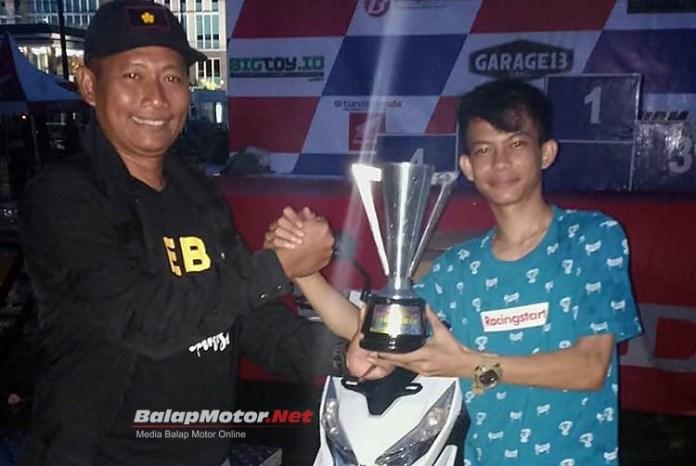Dragbike Pangkal Pinang: Diserbu 410 starter, Noka Romano Juara Umum Bersama Vidal Speed Shop