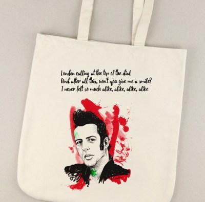 Bolsa de lona con la ilustración de Joe Strummer