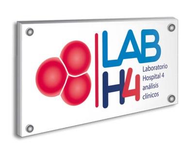 Placa de metacrilato LABH4