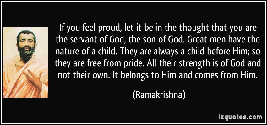 Servant, service, serving others, free from pride, strength from God