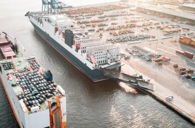 carros exportação barco
