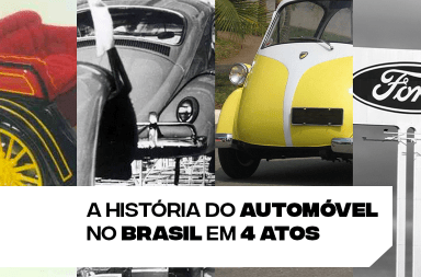 A história do automóvel no Brasil em 4 atos