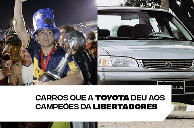 Carros que a Toyota deu aos campeões da Libertadores
