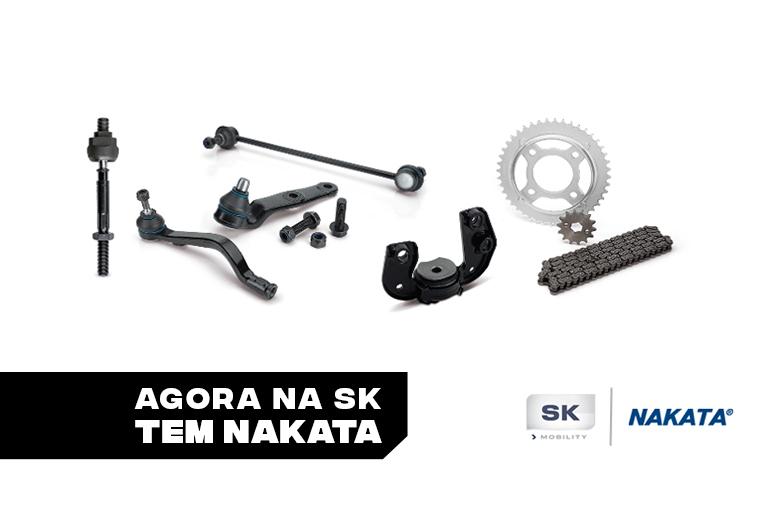 Nakata celebra parceria com a SK Mobility
