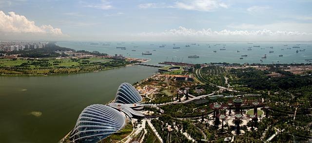 Stadtklima verbessern durch  Begrünung, wie zum Beispiel Singapur