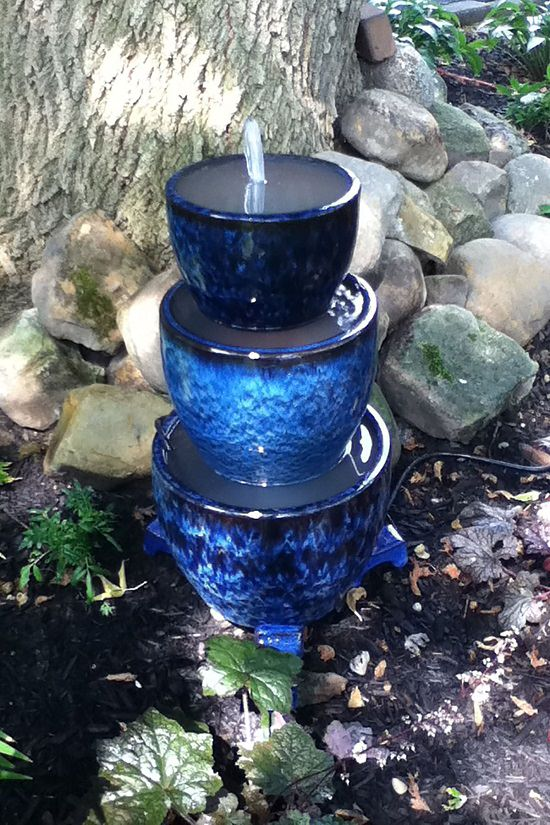 diy container water fountain