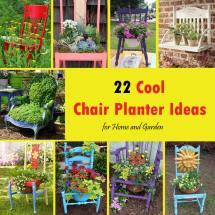 Cool Chair Planter Ideas Home And Garden Balcony
