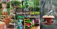16 Sparkling DIY Clay Pot Ideas for Garden | Balcony ...