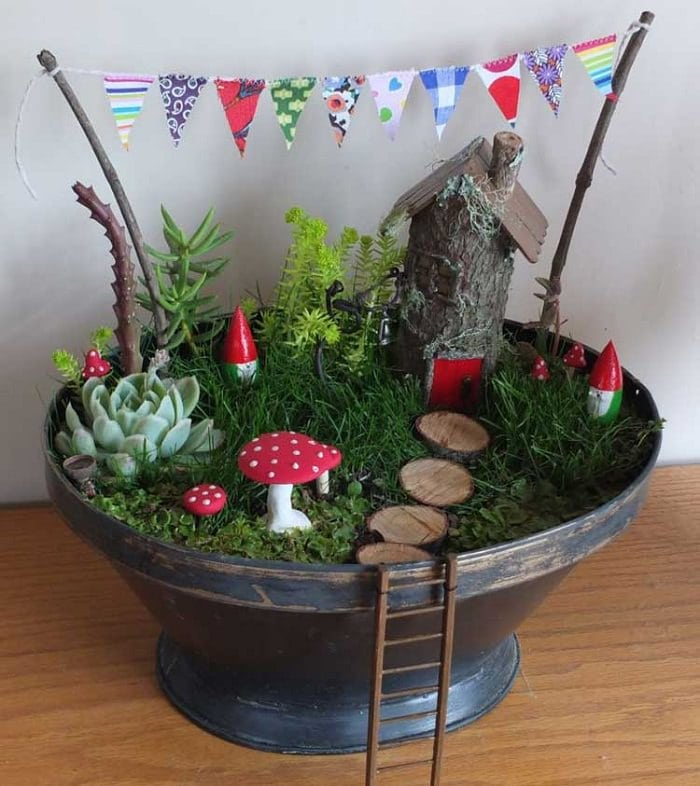 Magical Fairy Garden Ideas You & Your Kids Will Love Balcony