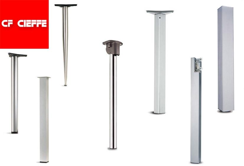 Gambe da tavolo in metallo regolabili di tutte le misure e