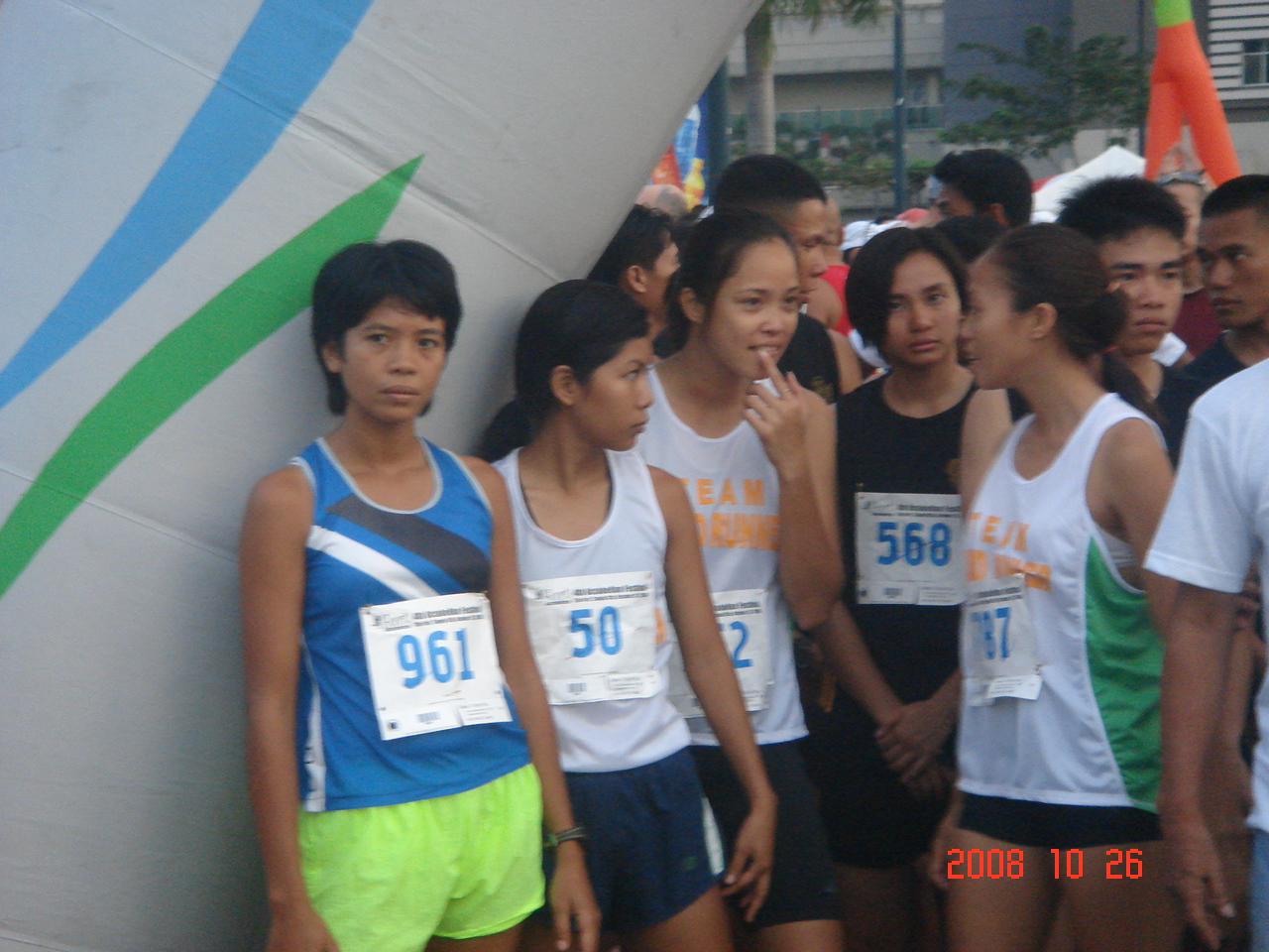 Women's Team Bald Runner at the Starting Area