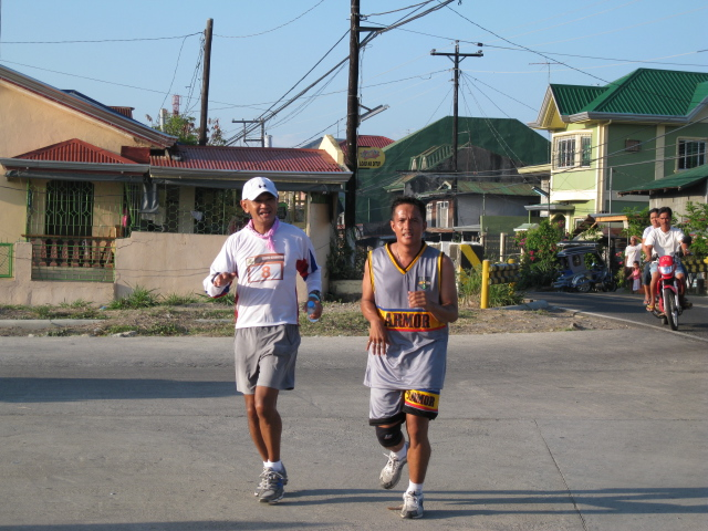 Still Smiling at Km # 50 With Capt Quilo