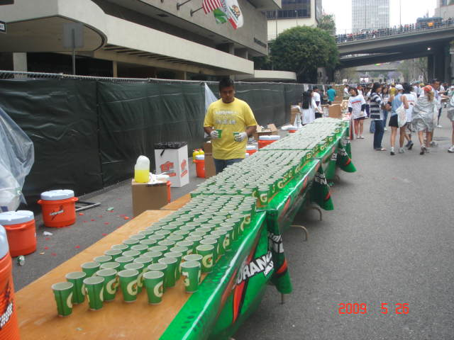 This Is How Long A Water/Garorade Station Is During The Race