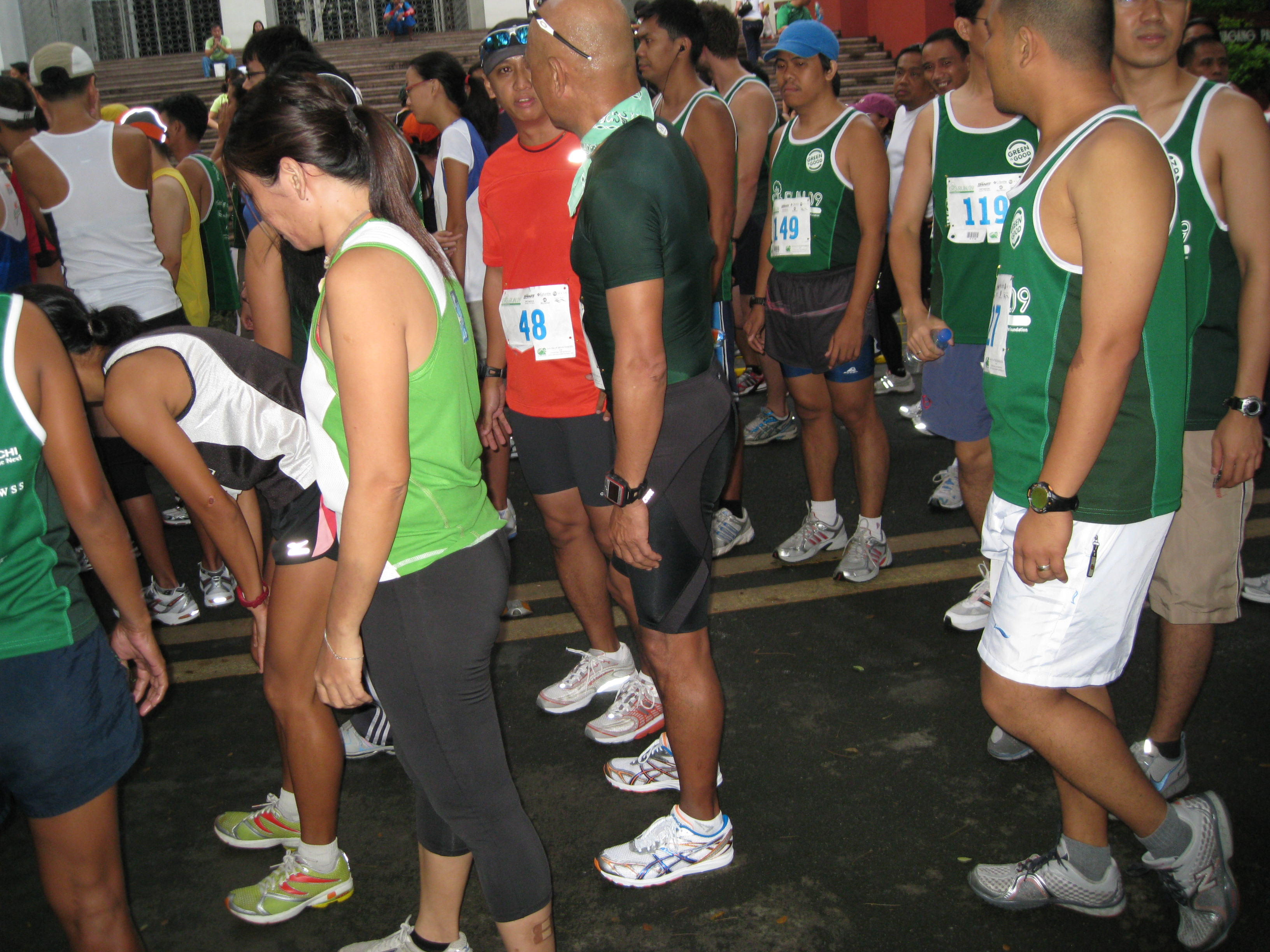 Talking With Some Runners At The Starting Area