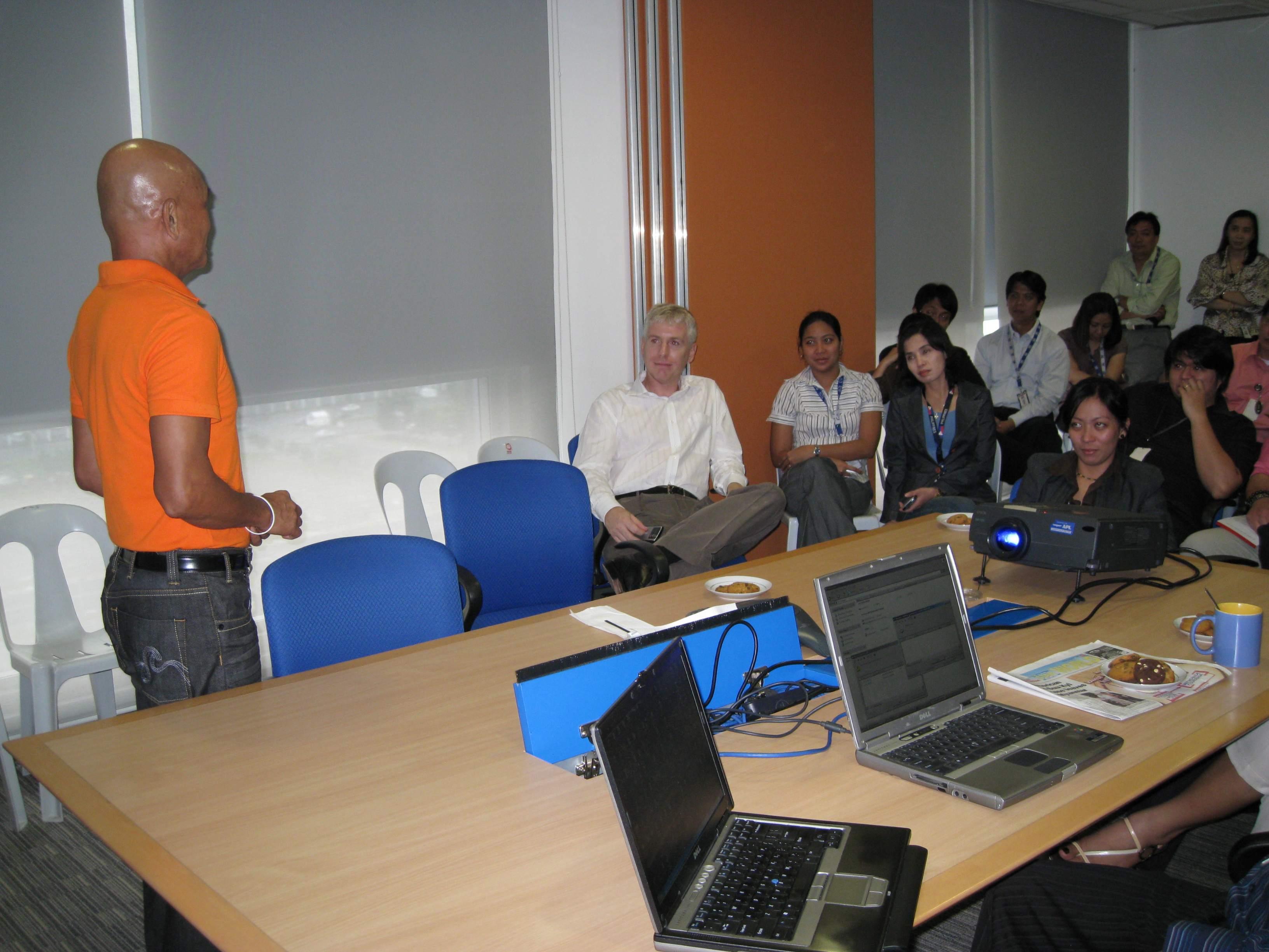 Maurice McKeating of APL led the participants