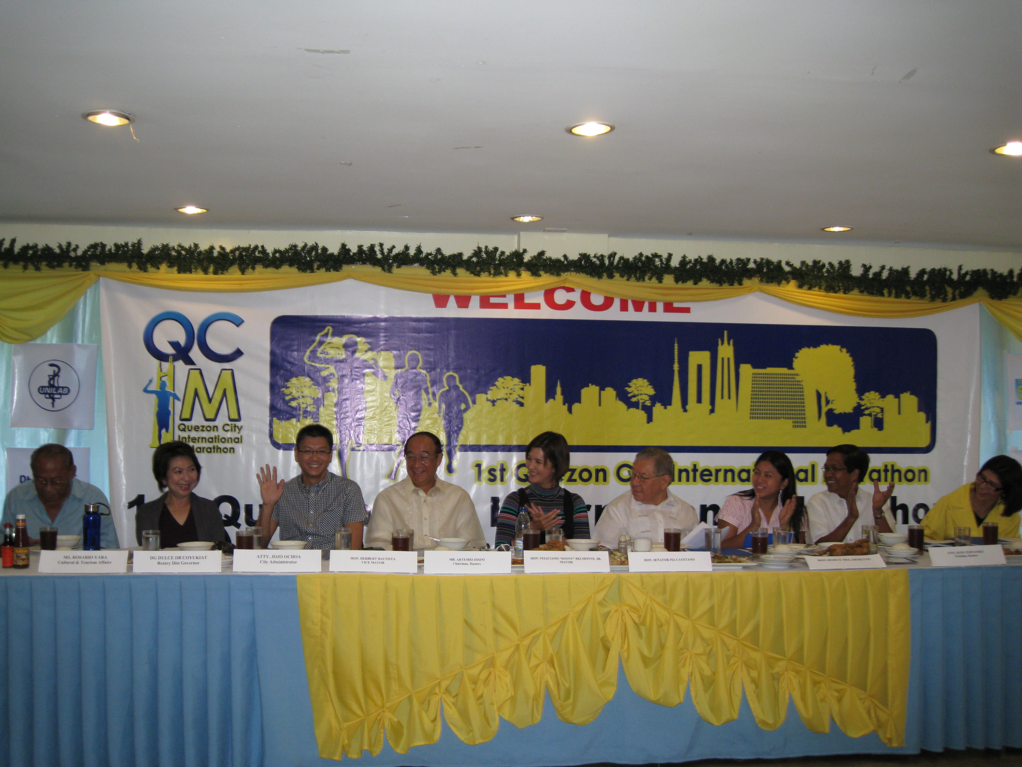 Media Launching of the 1st Quezon City International Marathon