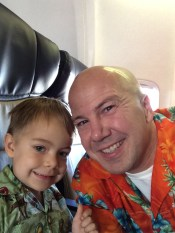 Timmy and Daddy Hawaiian shirts 2014-08-16