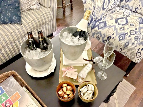 Kimpton Canary King Suite welcome amenity