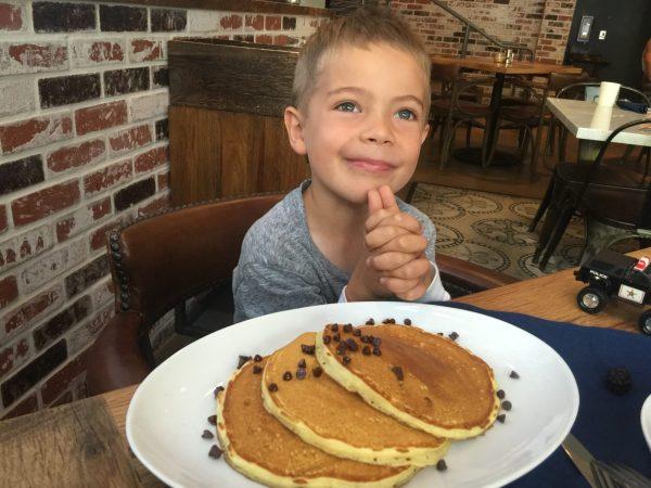 Kimpton Solamar JSix Restaurant chocolate chip pancakes