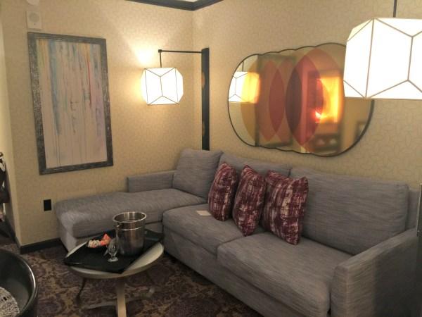 Kimpton Solamar Virtuoso Suite living room