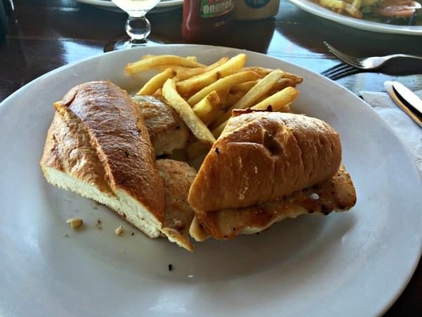 Worldmark by Wyndham Coral Baja Mama Mia's restaurant chicken sandwich