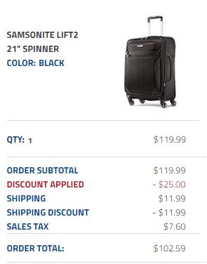 Samsonite Black Friday Deals