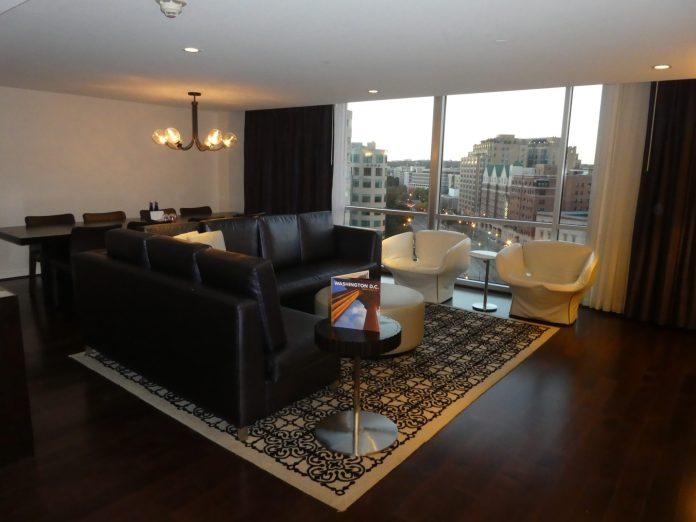 Kimpton Donovan Hotel Presidential Suite living room