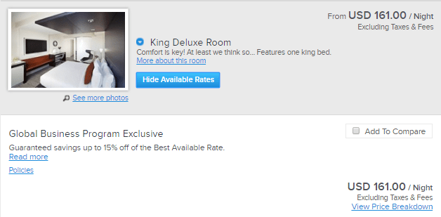 Kimpton Donovan Hotel King Deluxe price with code