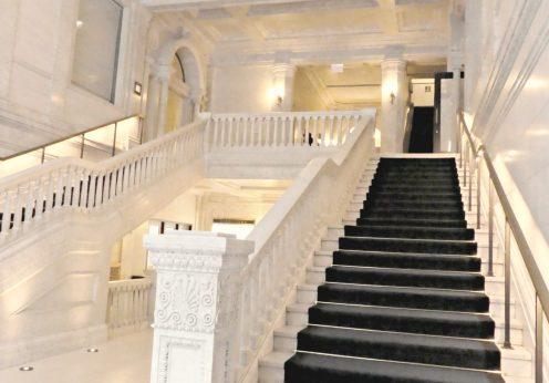 Kimpton Hotel Gray lobby staircase