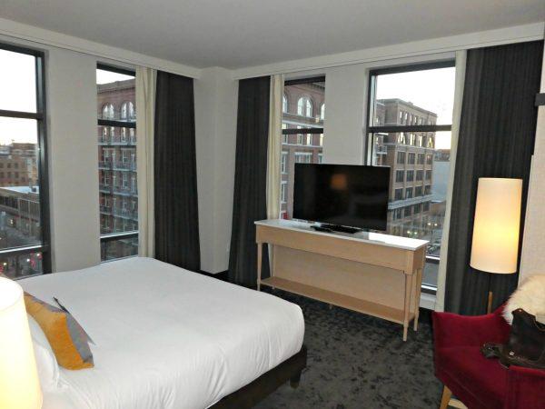Kimpton Journeyman Suite Upgrade bedroom windows