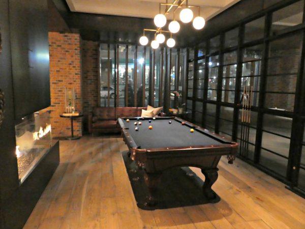 Kimpton Journeyman lobby pool table
