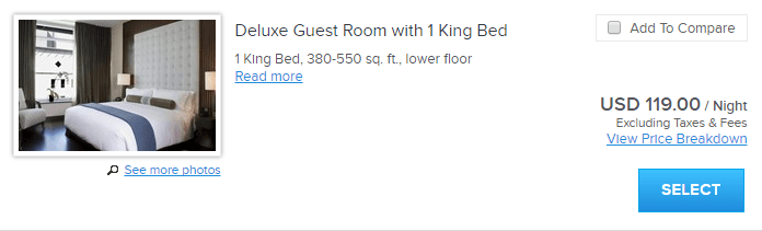 Kimpton Palomar San Diego Deluxe King room rate