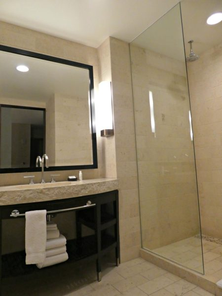 Kimpton Palomar San Diego Premier Suite bathroom & shower