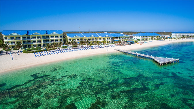 Wyndham Reef Resort Grand Cayman view from water