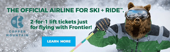 frontier airlines two-for-one lift tickets copper mountain