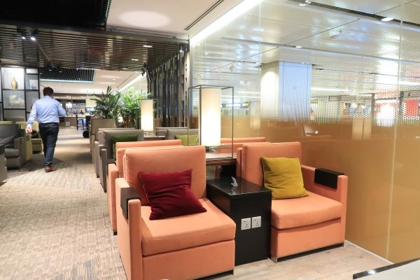 How to Have a Better Airport Experience. A LoungeBuddy Review. Comfortable seat at Singapore Changi's Dnata Lounge.