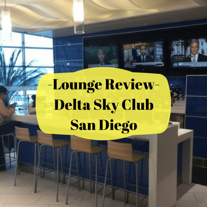 Delta Sky Club San Diego lounge review