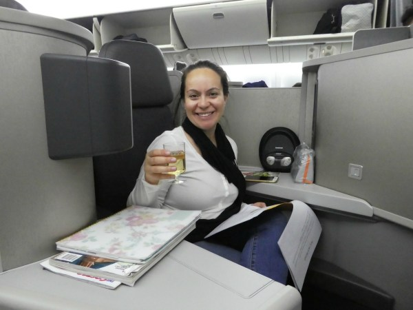 Anna in business class LHR to LAX