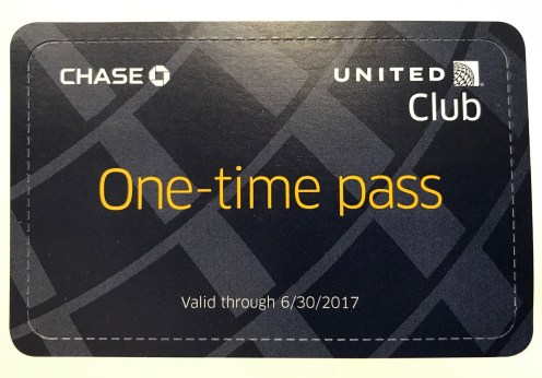 United Club pass expires June 30 2017