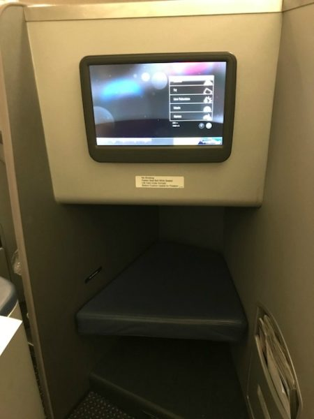 American Airlines Business Class A330 CLT-BCN in flight entertainment