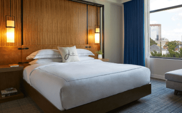 Kimpton Aertson Hotel Skyline King bedroom