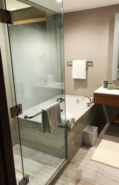InterContinental DTLA Deluxe Suite Bathroom