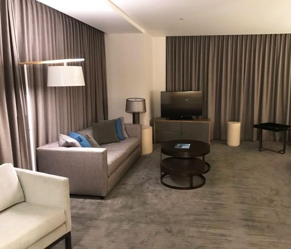 InterContinental DTLA Deluxe Suite seating area