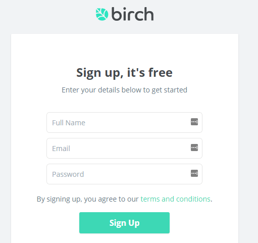Birch Finance review sign up