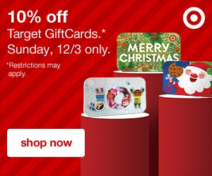 10 percent off Target gift cards 2017