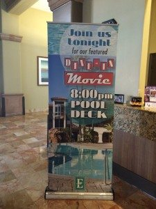Embassy Suites Mandalay Bay dive in theater banner