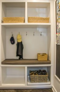 Mudroom with custom built-ins
