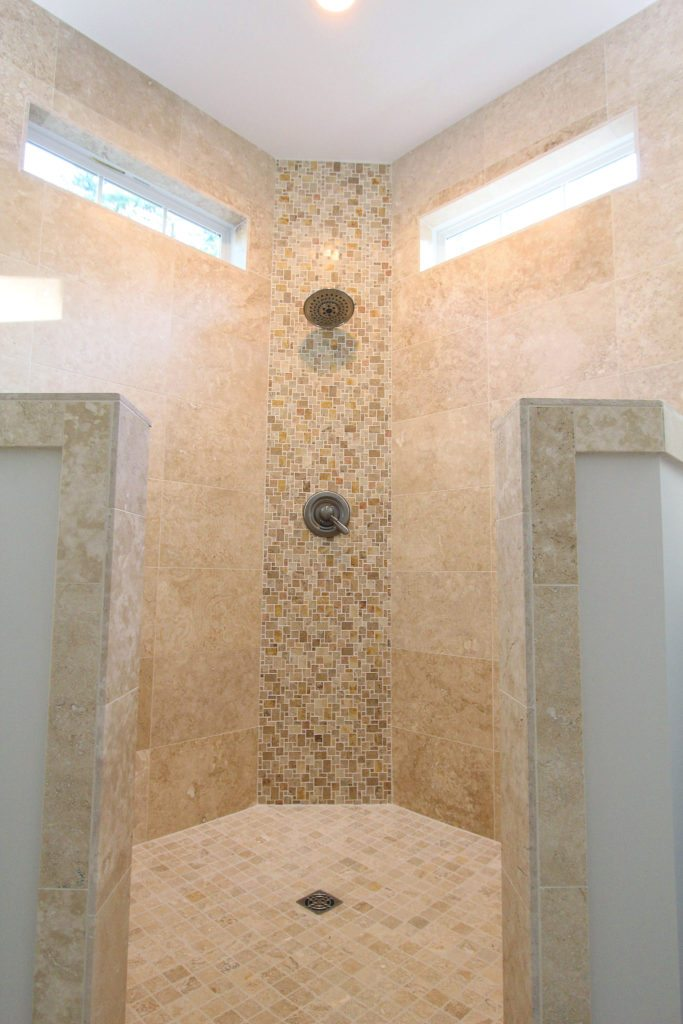 shower design beige tile ceramic