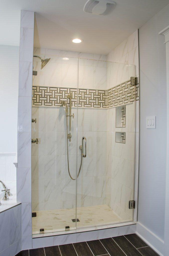 shower design tile accent white