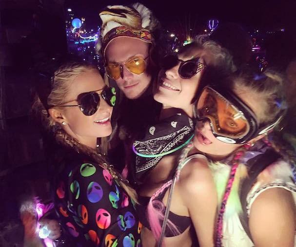 Paris e Barron Hilton, Poppy e Cara Delengne (Foto: Reprodução/Instagram)